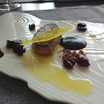 Beautifully presented foie gras