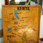 Kenyai zsiráf tipusok lelőhelye