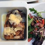 Delightful side salad to compliment the tasty lasagna.