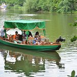 You can get a ride on a small boat, but the like (or say pond) is really small