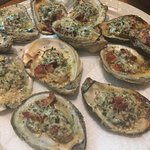 Bought a dozen oysters from Caplinger's yesterday to grill up for Father's Day...they were delic