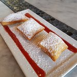Beignets with Strawberry Sauce
