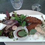 terrine de foie gras confit de vin et pain d'épices maison