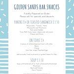 Golden Sands Hotel Blackpool - Bar Menu