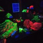 Fluorescent rock sample