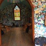 Inside the dog chapel.