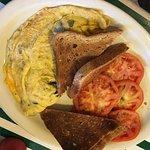 3-egg mushroom omelette
