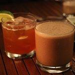 Rum Old Fashioned and Banana Chocolate Daquiri