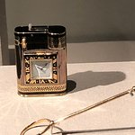 Cigarette Lighter with watch from Cartier exhibition