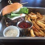 Lamb Burger and fries