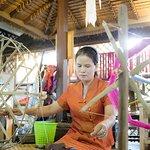 Silk making process.