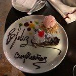 """Birthday Brownie with Ice Cream"""