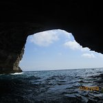 sortie d'une grotte