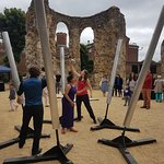 Sound installation, Call of the Bells,  at the reopening of Reading Abbey on 16 June