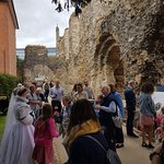 Major characters from Reading Abbey's history turned up for the reopening of the Abbey on 16 Jun