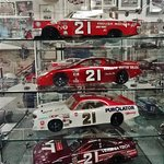 Model cars on display.