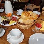 Vor dem Beginn des Frühstücks