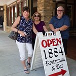 Debbie, Lynn and Dan in front of the 1884 Restaurant.