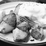 Eggs Benedict and home fries