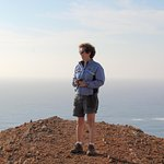 On the cliffs of the Algarve - Marli took this photo of me when I wasn't looking