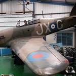 Hawker Hurricane Mk I (replica) in its new position at Tangmere.