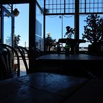 A view from inside the Harbour Cafe Bar Kitchen in Margate.
