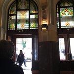 Art Nouveau Vitraux at the Municipal House Hall, Prague