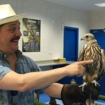 Everybody gets to hold a falcon!