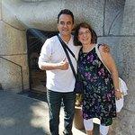 Francisco outside Sagrada Familia