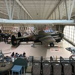 view of the Lancaster from the steps leading up from the cafe area.