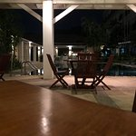 The bar area besides the pool