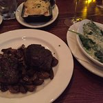 This is the ELK with creamed spinach and cheese potatoes.