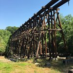 Trail Creek Train Trestle dating to 1841
