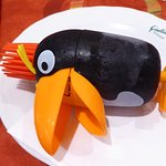 PUNKY, Vanilla Ice Cream served inside a toy Toucan!