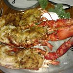 Baked and stuffed Lobster at Raindancer