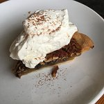 Pecan chocolate pie with bourbon vanilla whipped cream ($6)