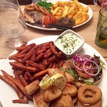 Our delicious main courses - and yes, that really is the portion size!