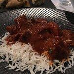 Lamb vindaloo on long grain rice