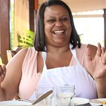 A hearty laugh from Iesha.  Thank you for coming!  #TopThingstodoinAntigua