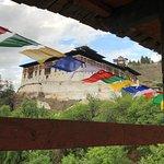 Rinpung Dzong seen from the wooden bridge across the Paro River