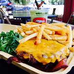 Half Pound Burger w/ Garlic Fries & Kalicious Smoothie