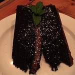The moist, not-too-rich, smooth chocolate cake