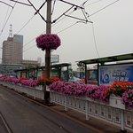 tram stop opposite railway station