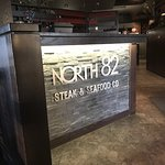 The front desk at North 82 Steak & Seafood Co.