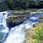 The top falls in Little River Canyon near the Center. You can see these best from across the bri