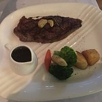 300g wahyu steak as main course