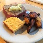Rare Yellowfin Tuna, Cornbread, Plantains