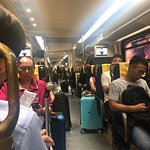 Inside Airport Express train