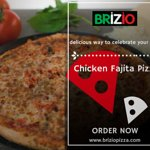 Offers freshly prepared chicken fajita pizza with quality ingredients that can be delivered righ