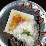 Creme Brule with White Chocolate and Saffron Infused Persian Floss